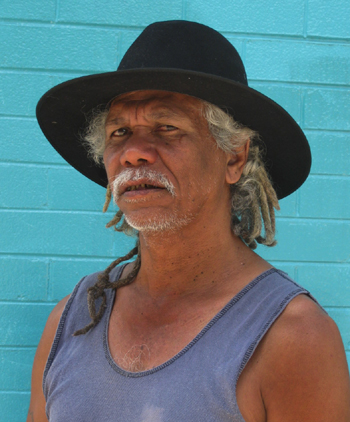 """Tibby Quall, a proud Dangalaba Larrakia traditional owner - """"Human Right to the test"""""""