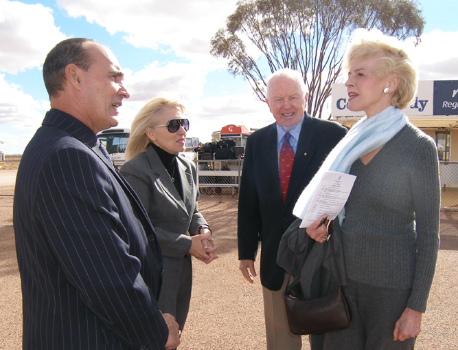 Mayor Steve Baines, Sharon Baines, Mr. Michael Bryce and the Governor General Mrs Quenton Bryce say their farewells at the airport
