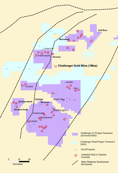 Southern Gold's Challenger Nemesis discovery