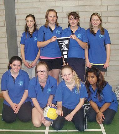 Coober Pedy Area School girls - winning volleyball team
