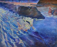Spiegeling in haven / ad / 54x63