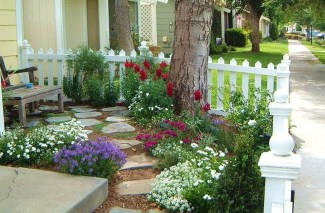 Gorgeous Front Yard Courtyard Landscaping Ideas 24