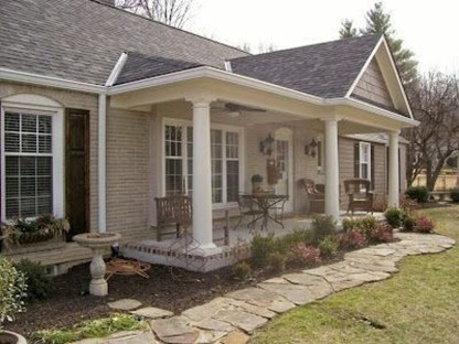 Great Front Porch Addition Ranch Remodeling Ideas 39