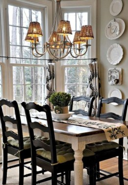 Incredible Fancy French Country Dining Room Design Ideas 06