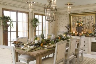 Incredible Fancy French Country Dining Room Design Ideas 10