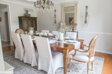 Incredible Fancy French Country Dining Room Design Ideas 18