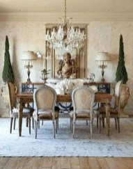 Incredible Fancy French Country Dining Room Design Ideas 36