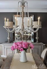 Incredible Fancy French Country Dining Room Design Ideas 39