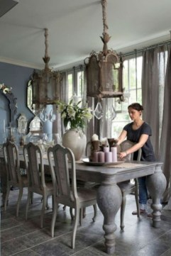 Incredible Fancy French Country Dining Room Design Ideas 42