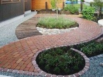 Stunning Front Yard Path Walkway Design Ideas 10