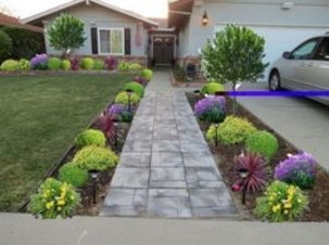 Stunning Front Yard Path Walkway Design Ideas 18