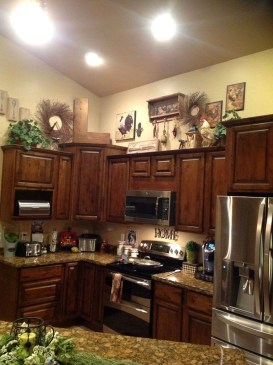 Awesome Decorating Above Kitchen Cabinets 13