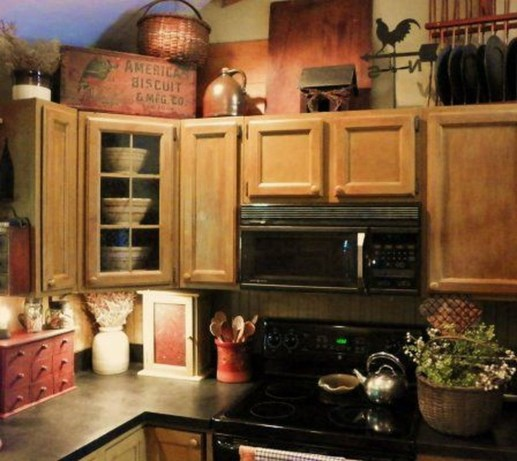Awesome Decorating Above Kitchen Cabinets 53