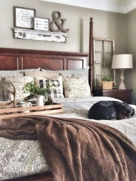 Awesome Farmhouse Style Master Bedroom Ideas 38