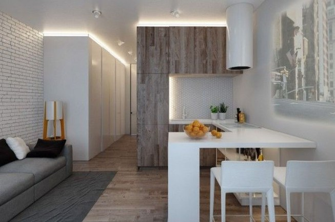 Beautiful Modern Small Apartment Design Ideas 47