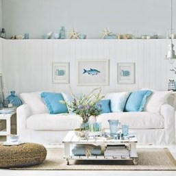 Comfy Coastal Themed Living Room Decorating Ideas 49