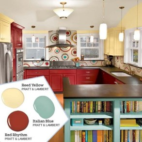 Incredible Colorful Kitchen Ideas 31