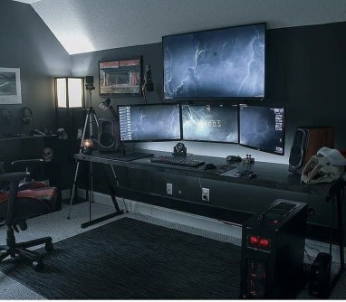 Unique Gaming Desk Computer Setup Ideas 47