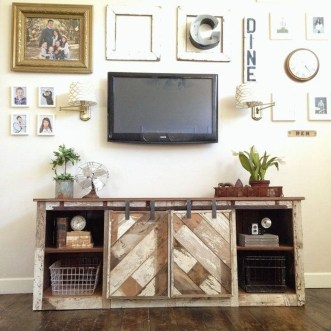 Cozy Minimalist Farmhouse Tv Stand Ideas 15