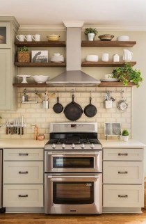 Cute Farmhouse Kitchen Backsplash Ideas 30