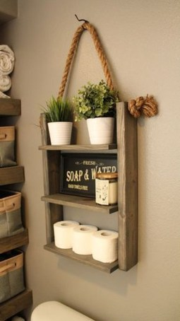 Lovely Farmhouse Bathroom Accessories Ideas 48