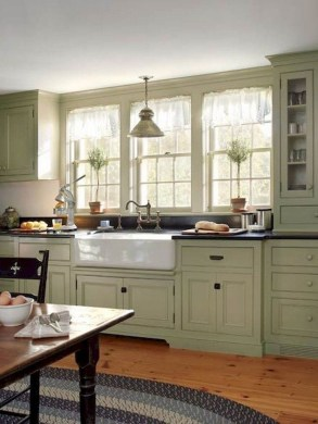Stunning Farmhouse Kitchen Color Ideas 34