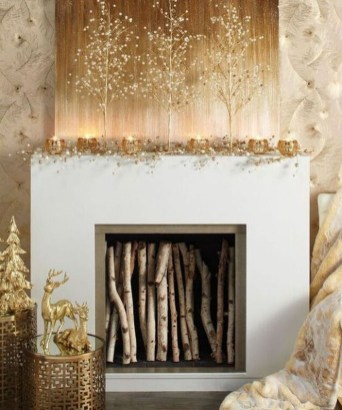 Adorable Gold Christmas Decoration Ideas 25