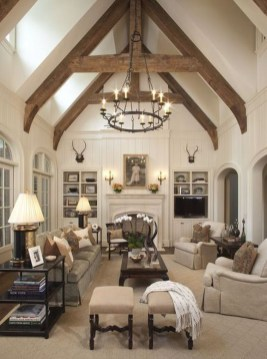 Awesome French Farmhouse Living Room Design Ideas 07