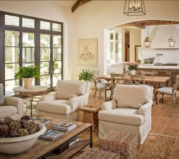 Awesome French Farmhouse Living Room Design Ideas 10