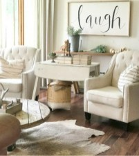 Awesome French Farmhouse Living Room Design Ideas 14
