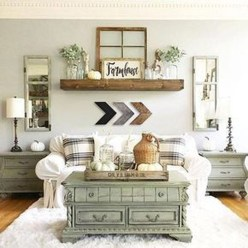 Awesome French Farmhouse Living Room Design Ideas 30