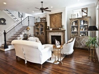 Awesome French Farmhouse Living Room Design Ideas 35