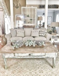 Awesome French Farmhouse Living Room Design Ideas 39