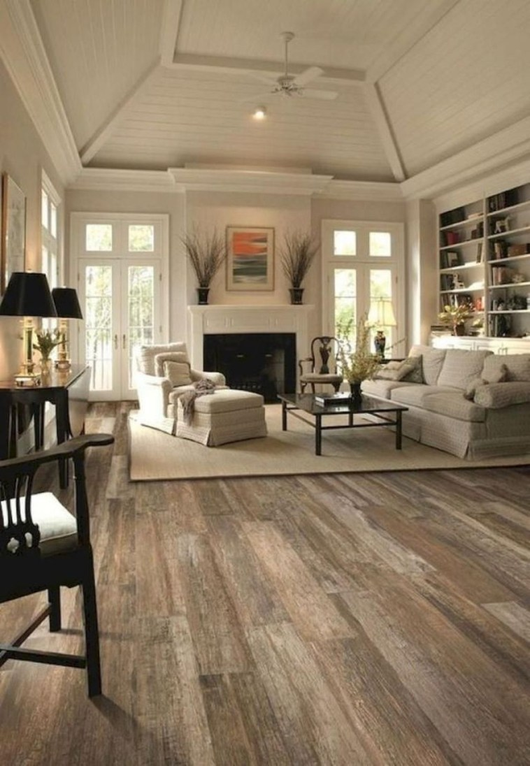 Awesome French Farmhouse Living Room Design Ideas 46