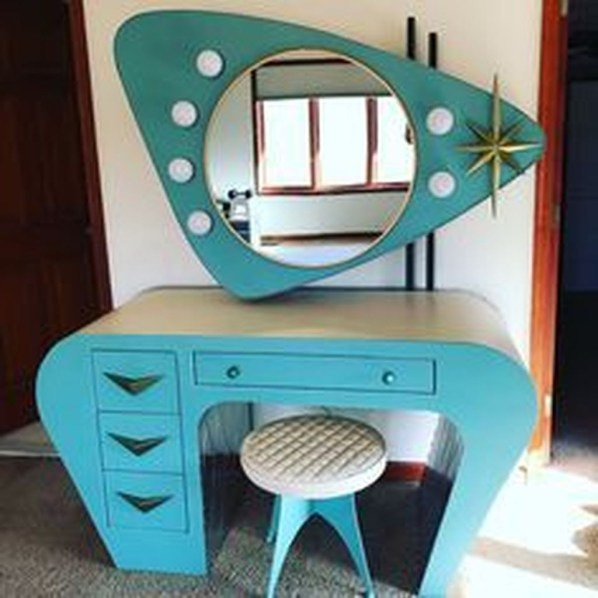Cozy Mid Century Dressing Tables Vanities Ideas 21
