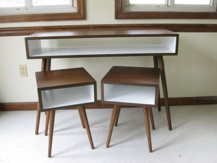 Cozy Mid Century Dressing Tables Vanities Ideas 51