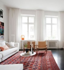 Incredible White Walls Living Room Design Ideas 40