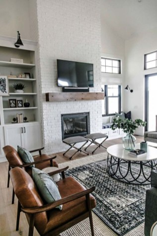 Incredible White Walls Living Room Design Ideas 51