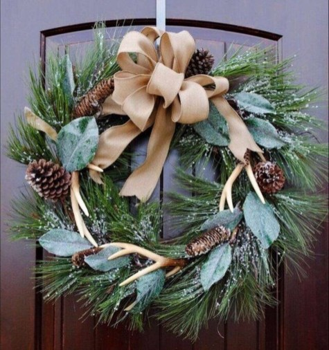 Magnificient Rustic Christmas Decorations And Wreaths Ideas 46
