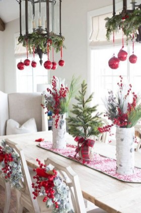 Modern Rustic Christmas Table Settings Ideas 27