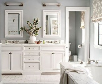 Wonderful Color Combination For Your Bathroom Design Ideas 21