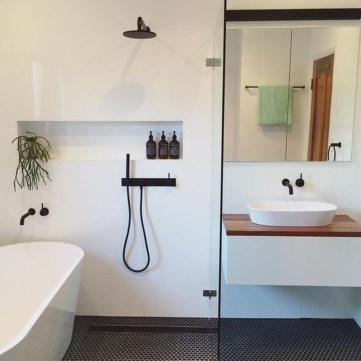 Wonderful Color Combination For Your Bathroom Design Ideas 34