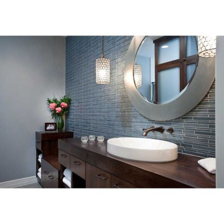 Wonderful Color Combination For Your Bathroom Design Ideas 37