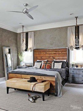 Attractive Industrial Bedroom Design Ideas 27