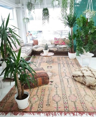 Romantic Rustic Bohemian Living Room Design Ideas 38