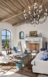 Romantic Rustic Bohemian Living Room Design Ideas 50