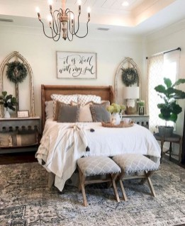 Stylish Farmhouse Bedroom Decor Ideas 27