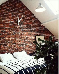 Wonderful Ezposed Brick Walls Bedroom Design Ideas 01