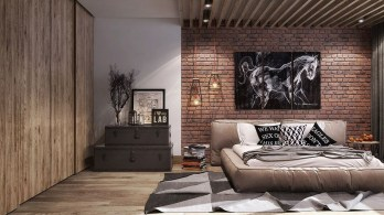 Wonderful Ezposed Brick Walls Bedroom Design Ideas 16