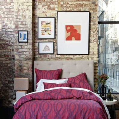 Wonderful Ezposed Brick Walls Bedroom Design Ideas 21